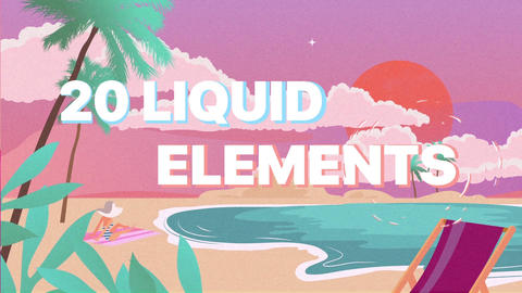 Liquid Shapes Collection Premiere Pro Template