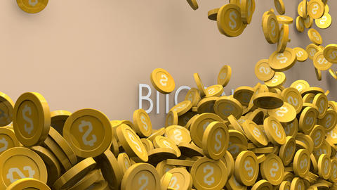 Cryptocurrency Bitcoin value increase Animation