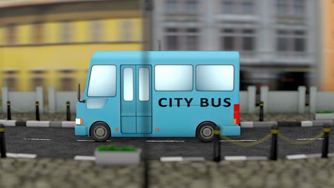 City public bus animation Animation