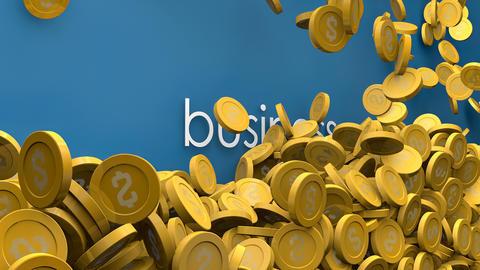 Rising business profit 3d animation Animation