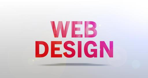 Web Design. Particle Logo. Text Animation Animation
