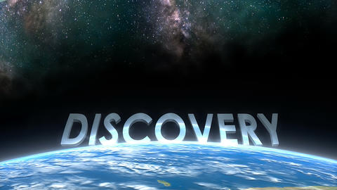 Earth horizon view, Discovery Animation