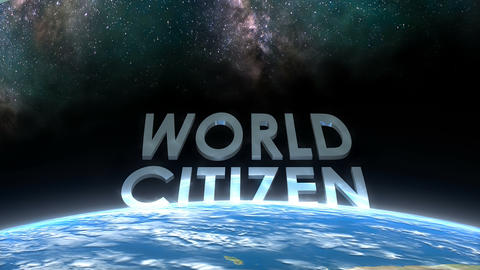 Earth horizon view, Citizen Animation