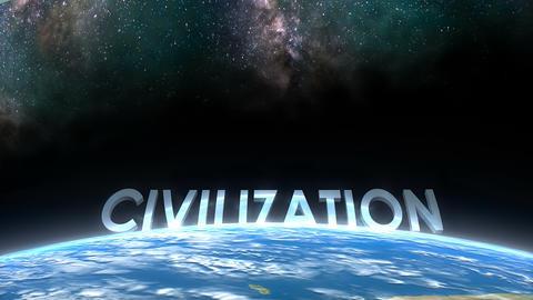 Earth horizon view, Civilization Animation