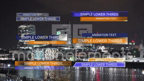 Simple Lower Thirds MOGRT Motion Graphics Template