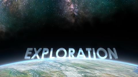 Earth horizon view, Exploration Animation