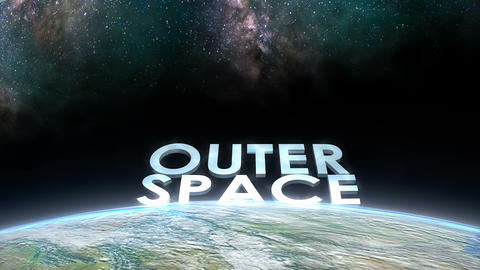 Earth horizon view, Outer Space Animation