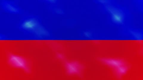 Haiti dense flag fabric wavers, background loop Animation