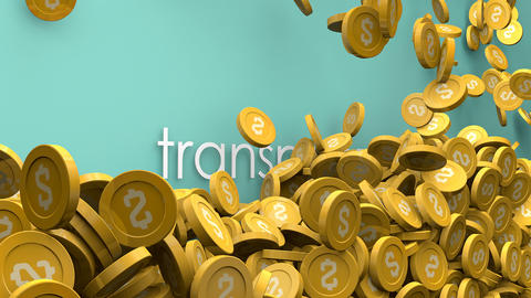 Transportation cost Increasing coins animation Animation