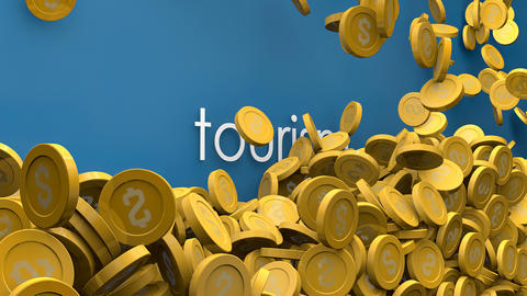 Rising tourism income animation Animation