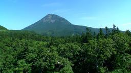 Mount Rausu, Hokkaido, Japan Footage