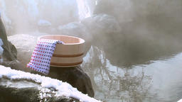 Traditional Japanese hot springs in Teshikaga, Hokkaido, Japan Footage