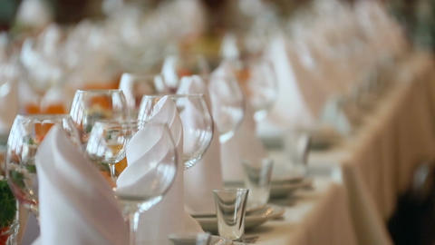 Banquet table setting Footage
