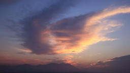 Clouds over Kuju Mountain Range at dawn, Kumamoto Prefecture, Japan Footage