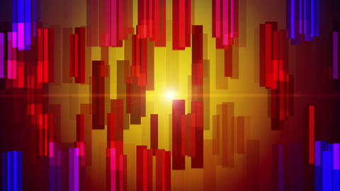 Fantastic video animation with stripe object and lights in motion, loop HD Animation