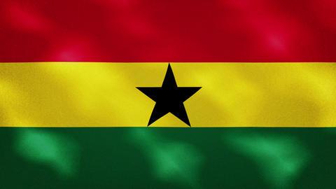 Ghana dense flag fabric wavers, background loop Videos animados
