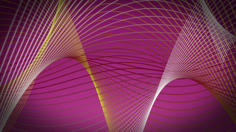 Romantic video animation with wave object in motion, loop HD Animation