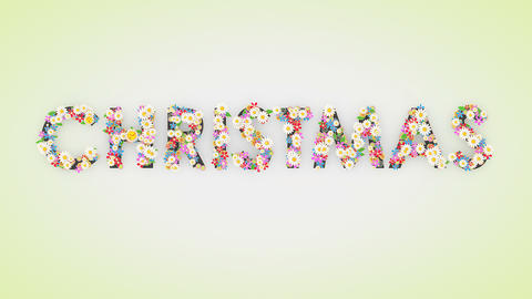 Christmas floral text background animation Animation