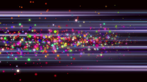 Animation with bubbles + stars + background in motion, loop HD Animation