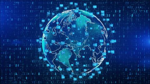 5G digital technology 00457 Videos animados