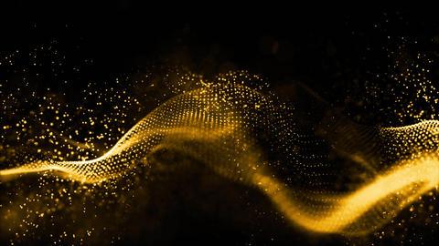 Digital particles wave 00467 Videos animados