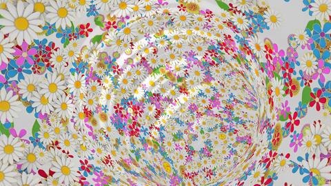 Floral flower vortex tunnel animation Animation