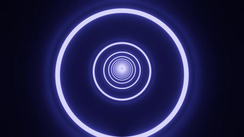 Blue circle neon tunnel CG動画