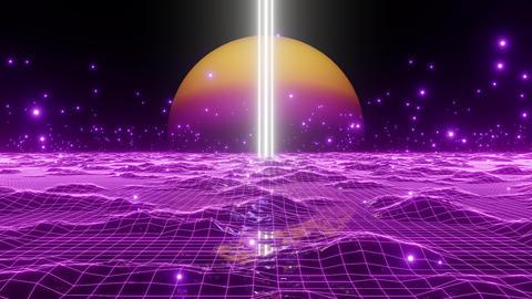 Mountain Light Retro Future 01 Animation