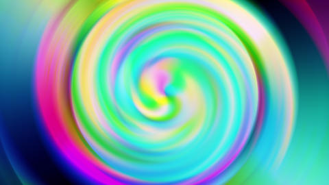 Multicolored Vibrant Animated Spiral Animation
