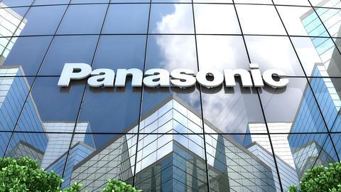 Editorial, Panasonic Corporation logo on glass building Animation
