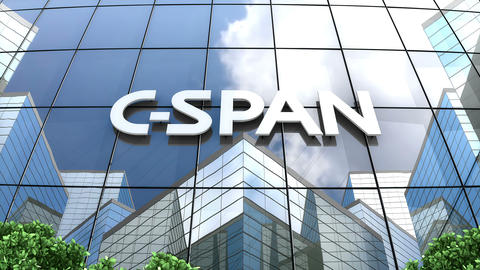 Editorial, C-SPAN logo on glass building Animation