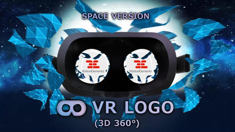VR LOGO 8K (VR 3D 360° format) After Effectsテンプレート