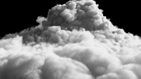 An avalanche of Smoke formed after a strong explosion. Contains the alpha channel Animation