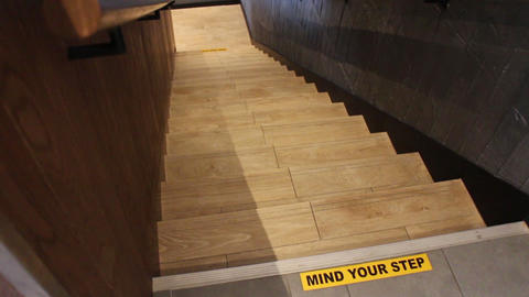 Careful sign stair steps information Live Action