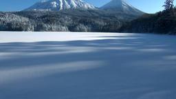 Snow at Mount Meakan, Hokkaido, Japan Footage
