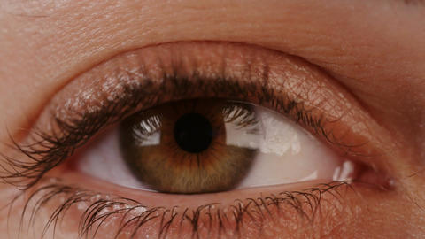 Macro shot of a woman's eyes Footage