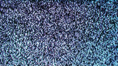 Analog old TV Noise No Signal Background Footage
