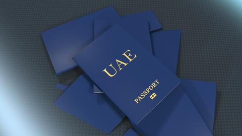 Artist rendering UAE travel passport Animation