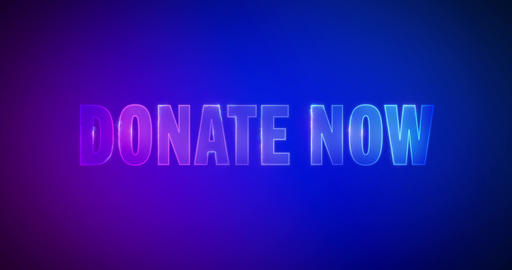 Donate now. Electric lightning words. Logotype Animation
