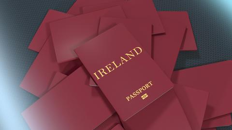 Artist rendering Ireland travel passport Animation