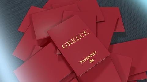 Artist rendering Greece travel passport Animation