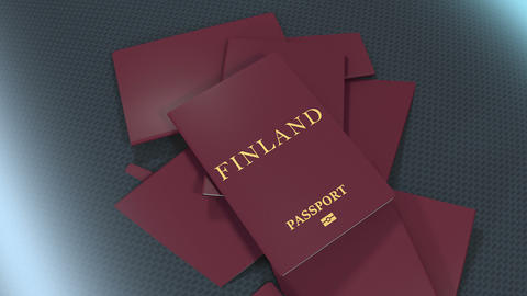 Artist rendering Finland travel passport Animation