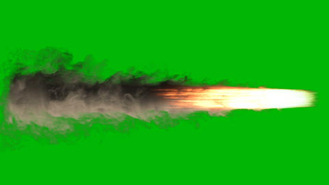 Exploding fire, smoke and sparks,as if from a jet or rocket engine burns fuel emitting a huge amount Animation