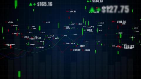 Candlestick graph chart 00516 Animation