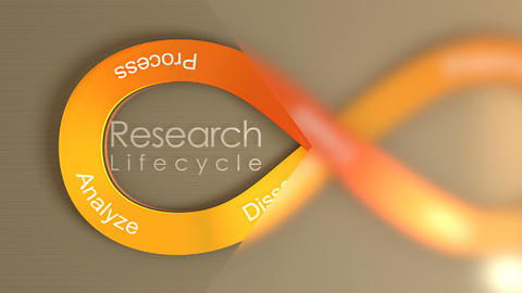 Research Lifecycle concept animation background Animation