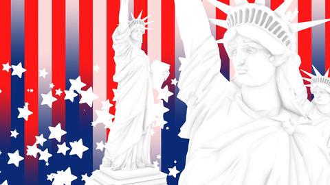 United States Statue Liberty design background Animation