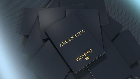 Artist rendering Argentina travel passport Animation