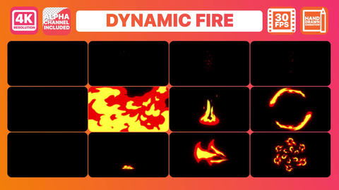 Dynamic Fire Elements Premiere Pro Template