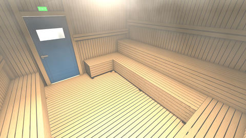 Sauna and steam room, holiday and relaxation Animation