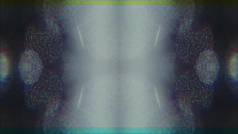 Kaleidoscope geometrical cyberpunk trendy iridescent background. Data mosh mix Live Action